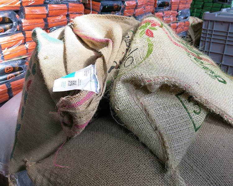 Sacchi di juta per il caffè